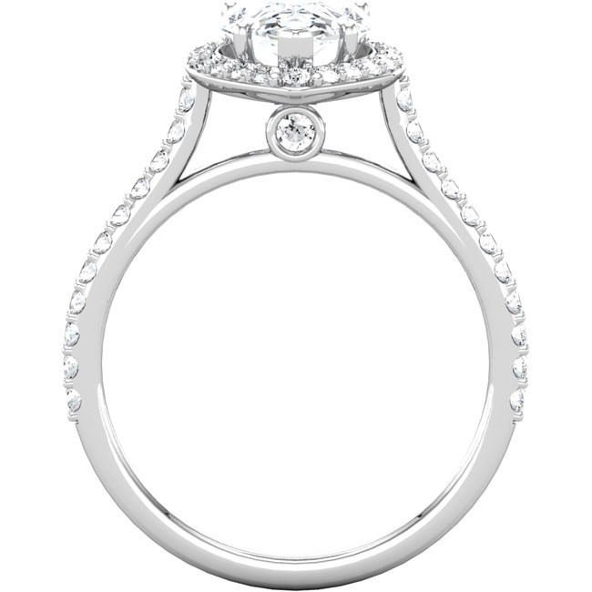 Pear Shaped Engagement Ring Setting