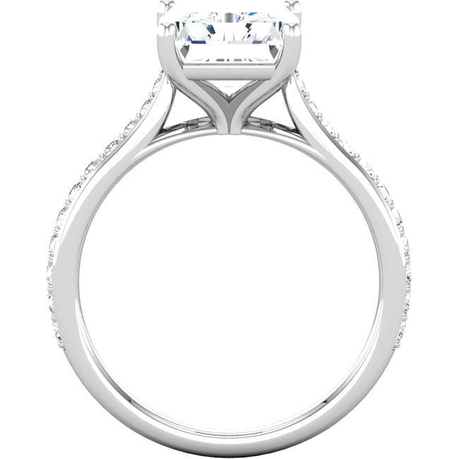 Radiant Cut Diamond Engagement Ring Setting