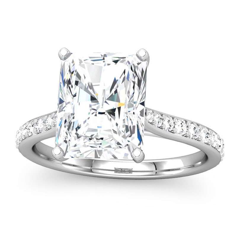 product diamonds set white diamond ring gold brilliant engagement in centre img radiant featuring with round ladies cut