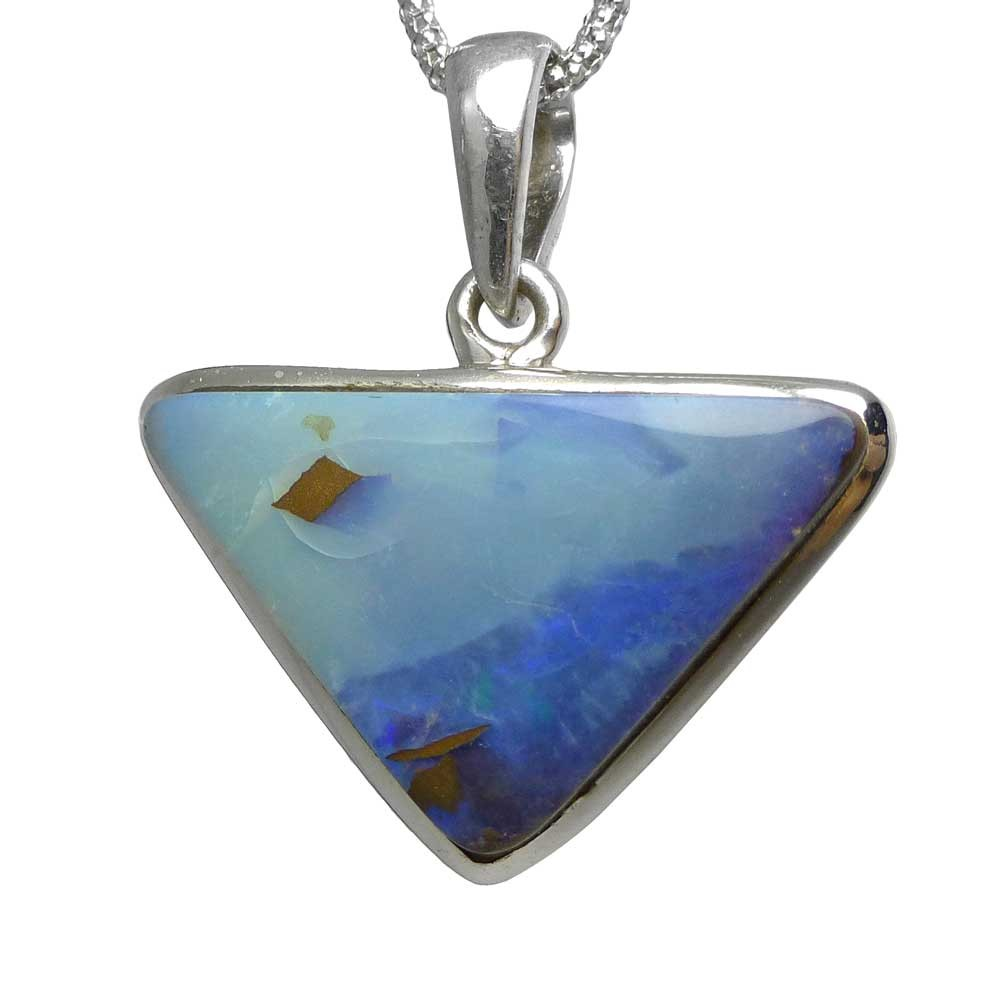 diamonds gold pendant direct front product boulder opal nz australian