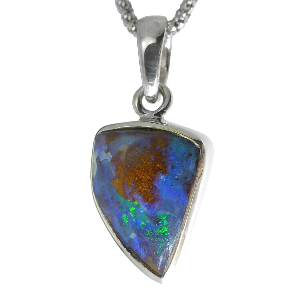 black star products pendant boulder opal