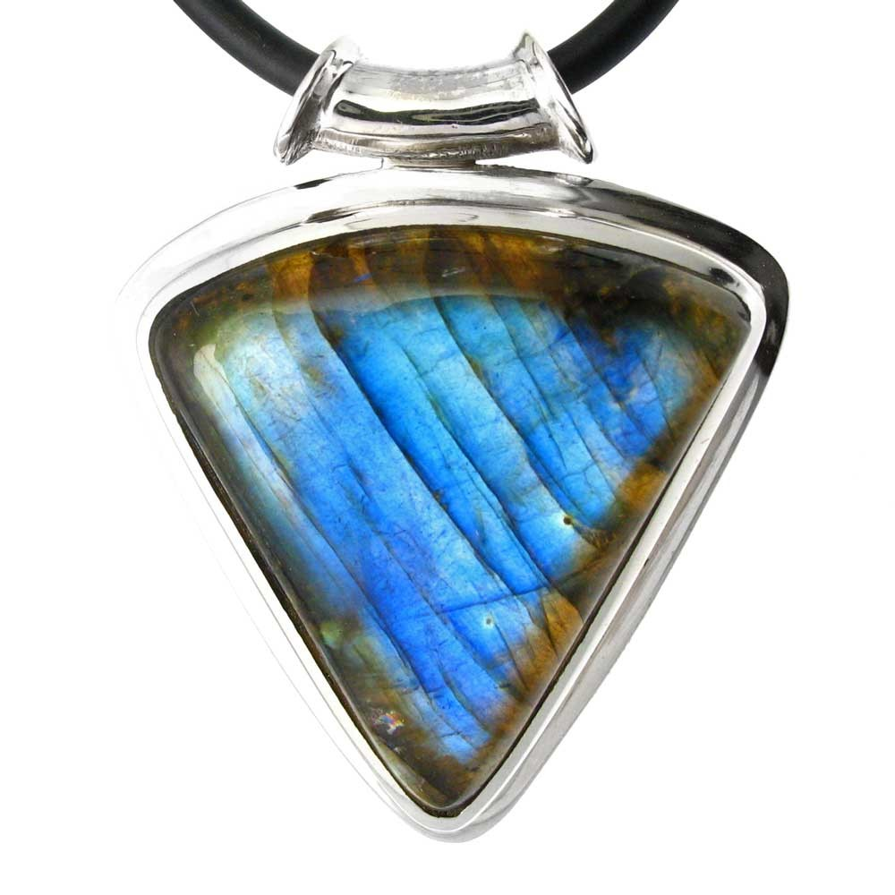 sterling leather ssl labradorite silver necklace lpn htm product pendant p