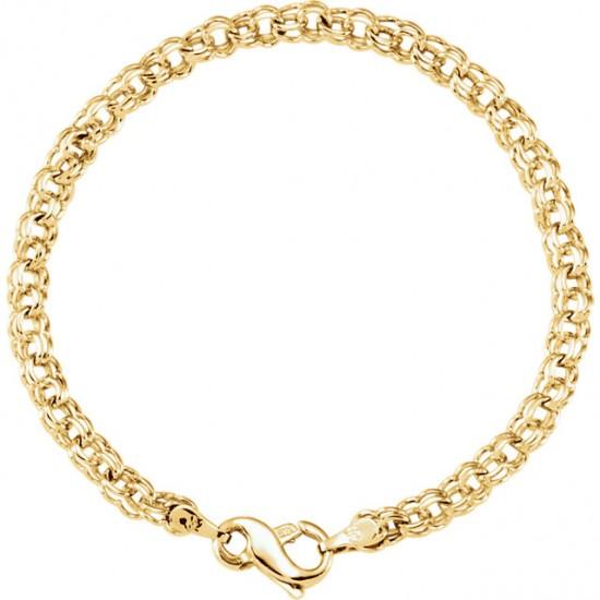 Heavier Solid Gold Charm Bracelet