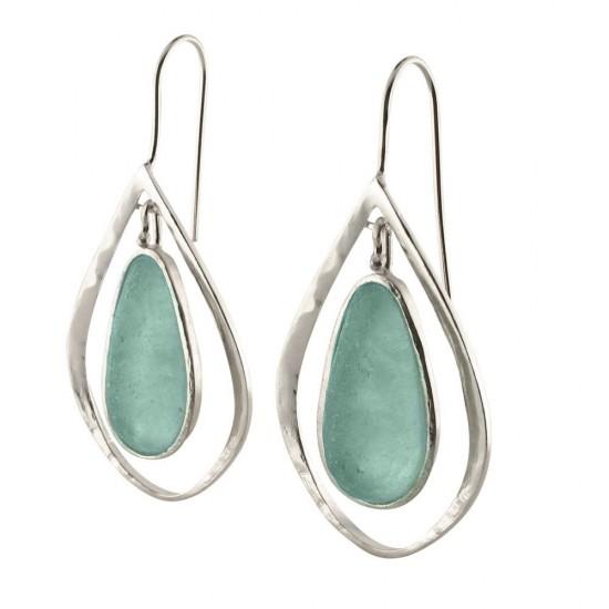 Roman Glass Tear Drop Earrings