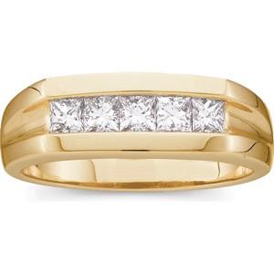 One Carat Square Cut Diamond Ring