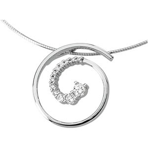 Swirl Diamond Pendant