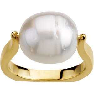 12mm South Sea Cultured Pearl Ring