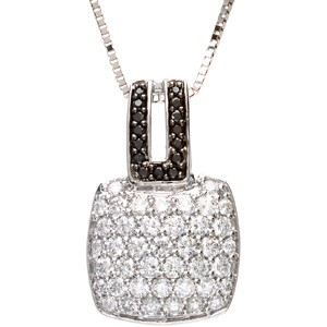 Black and White Diamond Pendant