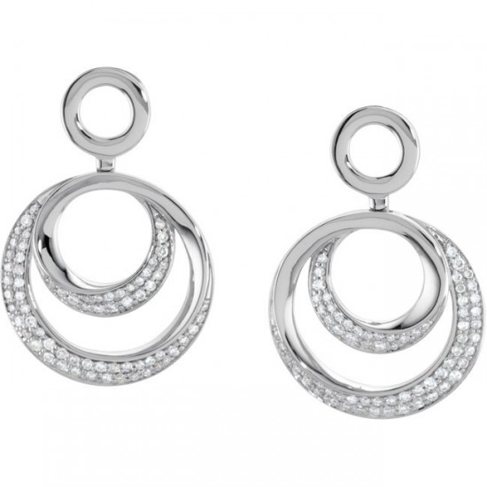 Diamond Drop Hoops