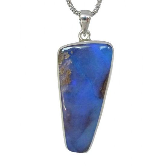 Dark Blue Boulder Opal