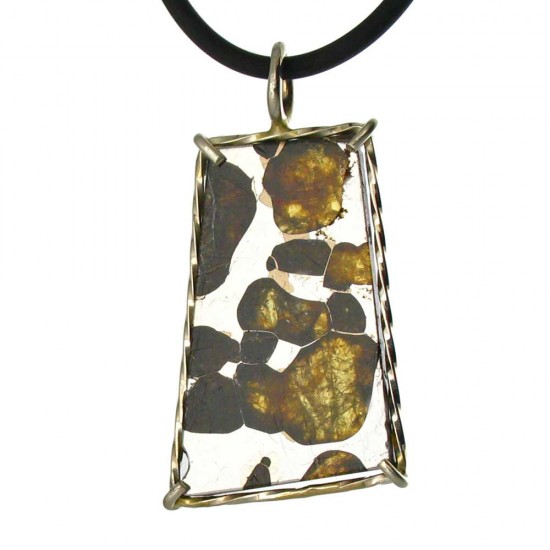 A Pallasite with Vivid Olivine Crystals