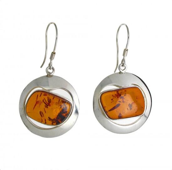 Golden Amber Drop Earrings