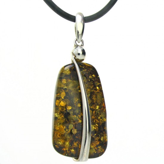 Designer Deep Golden Amber Pendant