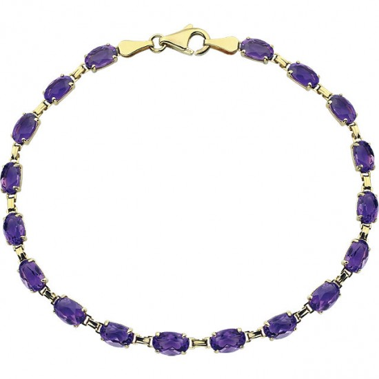 Amethyst Bracelet in 14kt Gold