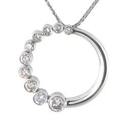 Diamond Journey Circle Bezel Pendant