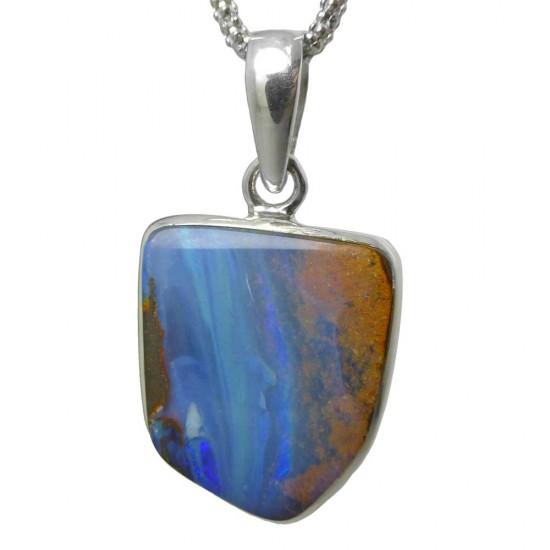 Australian Boulder Opal Pendant - 10ct