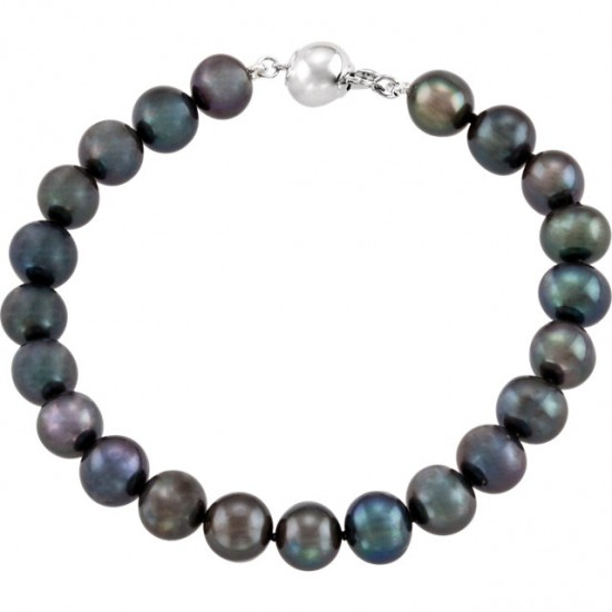Freshwater Black Pearl Bracelet