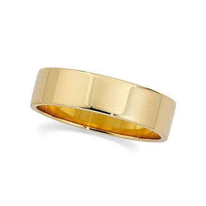 14kt Gold Flat Wedding Band 5mm Width