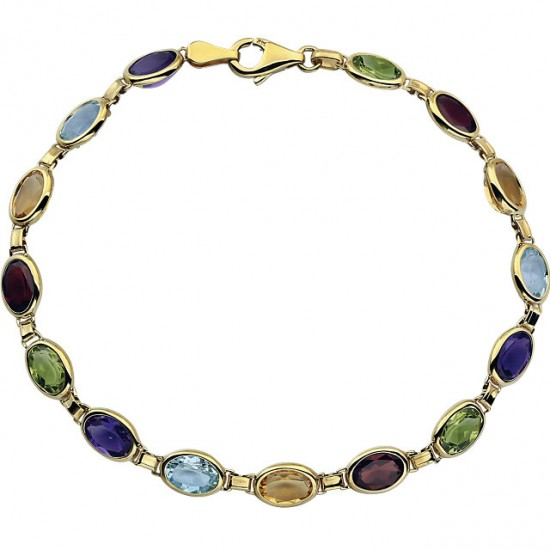 Gemstone Bracelet in 14kt Gold