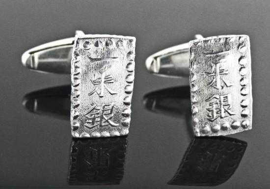 Japanese Samurai Coins in Cufflinks