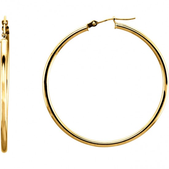 Large Gold Hoops in Three Gold Colors