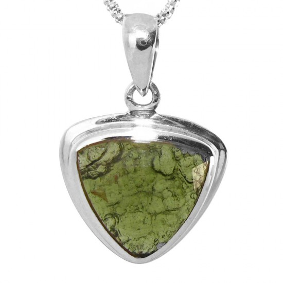 Our Largest Faceted Triangular Cut Moldavite