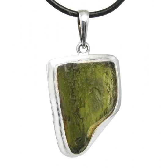Moldavite Natural Crystal Pendant
