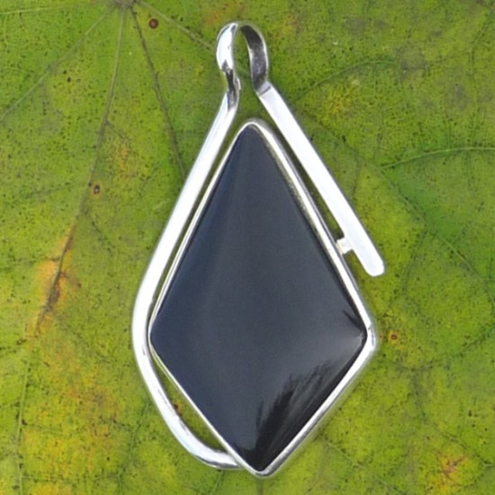 Peruvian Obsidian Pendant