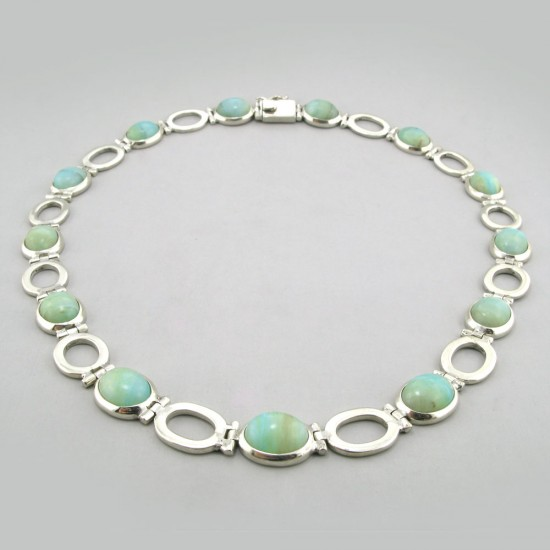 Custom Designed Peruvian Opal Collar
