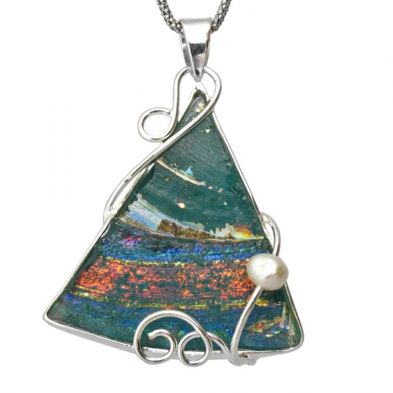 Custom Roman Glass Pendant