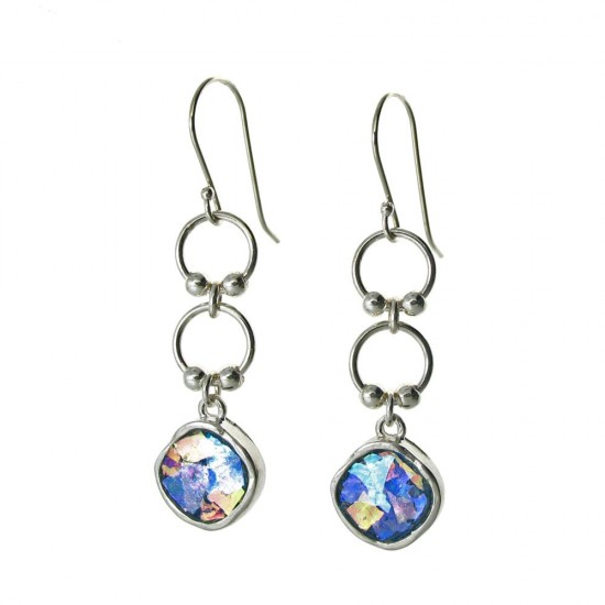 Our Most Popular Roman Glass Dangle Earrings