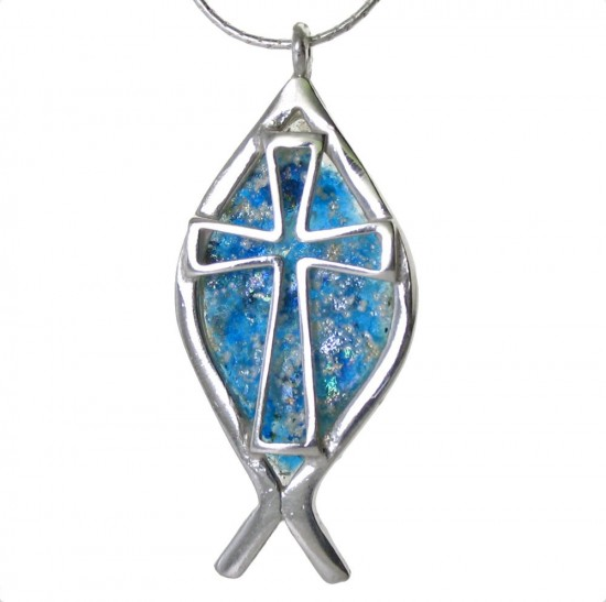 Roman Glass Cross
