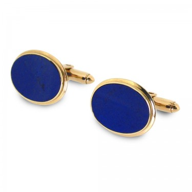Lapis in 14KT Gold Cufflinks