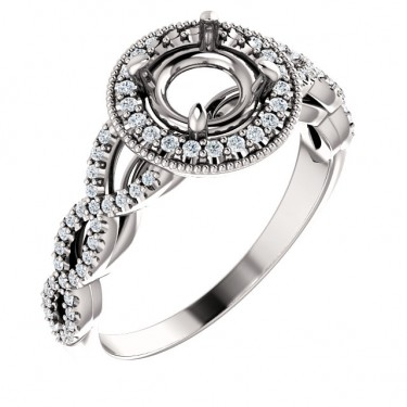 Infinity Pattern Diamond Ring Setting