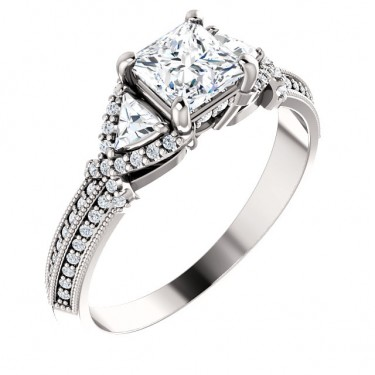 Trilliant Diamond Ring Setting