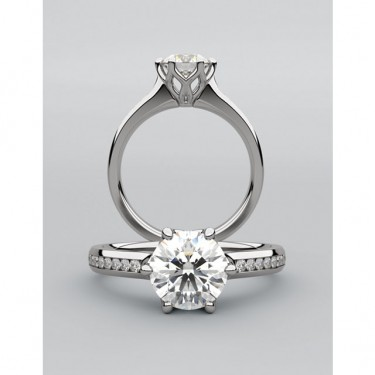 Diamond Engagement Ring for One Carat Center Diamond