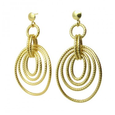 Italian Designer Gold Hoop Earrings