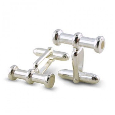 Sterling Silver Barrel Cufflinks