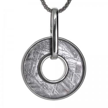 A Simple Round Meteorite Pendant