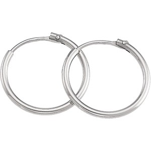 Platinum Fashion Hoop Earrings