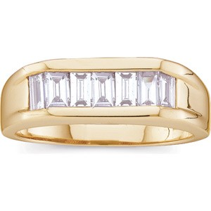 Man`s One Carat Baguette Band