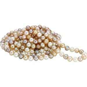 72 Inch Multicolor Freshwater Cultured Pearl Rope
