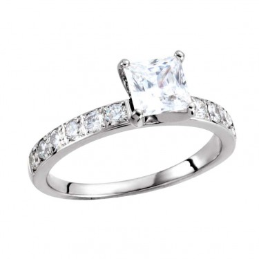 Contemporary Round Diamond Ring Mounting