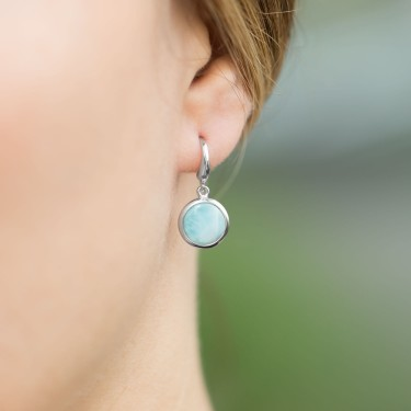 Caribbean Larimar Earrings