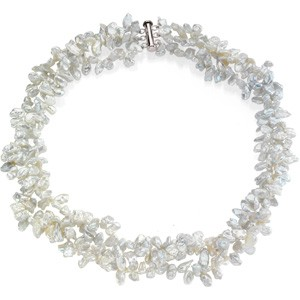 Freshwater Keshi White Pearl Necklace