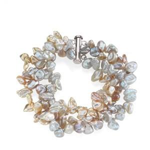Freshwater Keshi Multi-Color Pearl Bracelet