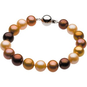 10-11mm Freshwater Chocolate Pearl Bracelet