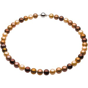 10-11mm Freshwater Chocolate Pearl Necklace