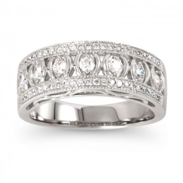 1/2 ct. Diamond Band in 14kt White Gold
