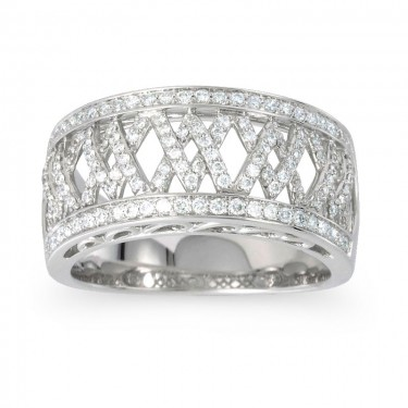 1/2 ct. Woven Pattern Diamond Band